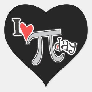 I heart Pi Day Heart Sticker