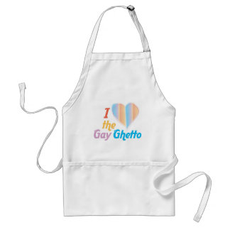 I heart the Gay Ghetto Standard Apron