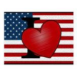 I Heart USA Postcard
