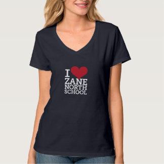I Heart Zane North Women's Navy V-Neck Tee