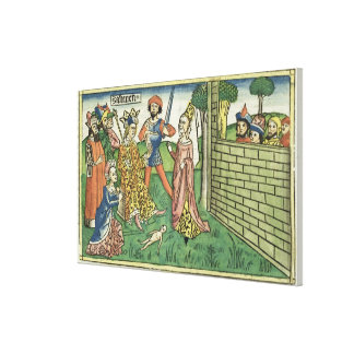 I Kings 3 16-28 Judgement of Solomon, from the 'Nu Canvas Prints