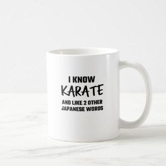 I Know Karate And Like 2 Other Japanese Words Basic White Mug
