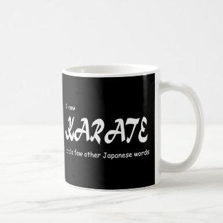 I know Karate and other Japanese Words. Funny. Basic White Mug
