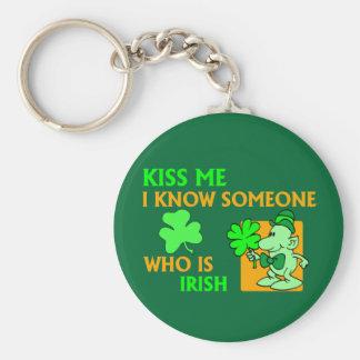 I know someone who is Irish. Basic Round Button Key Ring