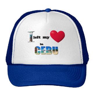 I left my heart in Cebu - Love Gift Couple Cap Hat