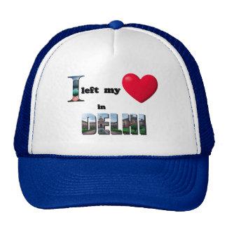 I left my heart in Delhi -Love Gift Couple Cap Hat