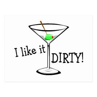 I Like It Dirty Martini 3 Postcard