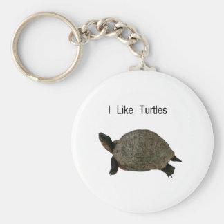 i like Turtles Basic Round Button Key Ring