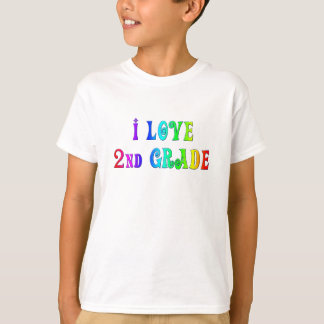 I Love 2nd Grade Rainbow Design Shirt