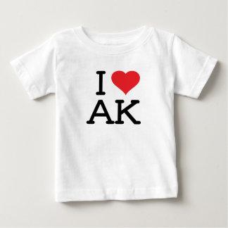 I Love AK - Heart - Baby T Shirt