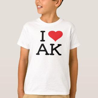 I Love AK - Heart - Kids T Shirt