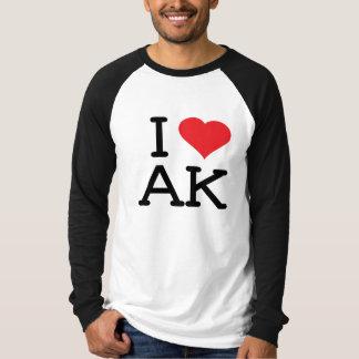 I Love AK - Heart - Mens Raglan T-shirts