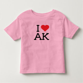 I Love AK - Heart - Toddler Ringer Tees