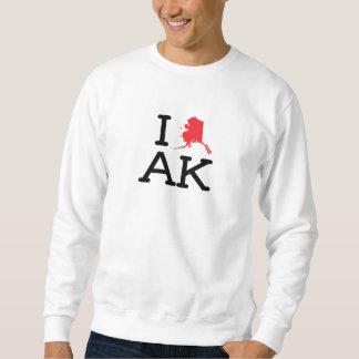 I Love AK - State - Sweatshirt