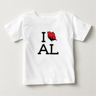I Love AL - Cotton (Baby T) Tshirt