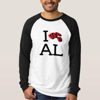 I Love AL - Pecans - Raglan Tee Shirts
