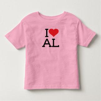I Love AL - Toddler Ringer Tshirt