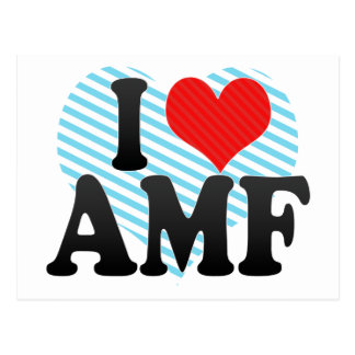 I Love AMF Postcard