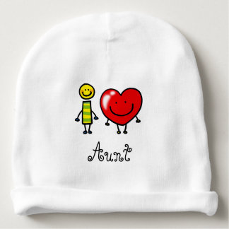 i love Aunt (personalized) Baby Beanie