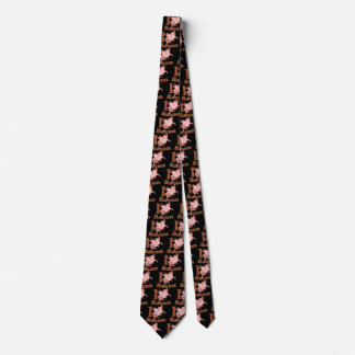 I LOVE BACON flying pig Tie