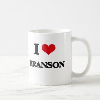 I Love Branson Basic White Mug