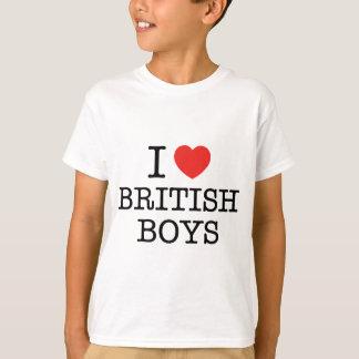I Love British Boys Tee Shirt