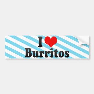 I Love Burritos Bumper Sticker