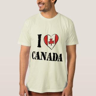 I Love Canada T Shirt Men's