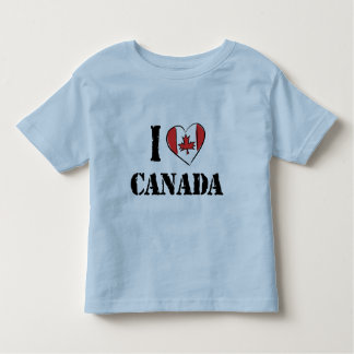 I Love Canada T Shirt Toddler