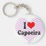 I love Capoeira Basic Round Button Key Ring