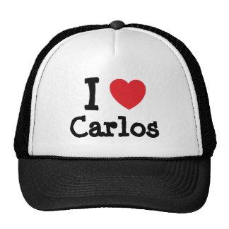 I love Carlos heart custom personalized Cap