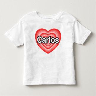 I love Carlos. I love you Carlos. Heart T Shirts