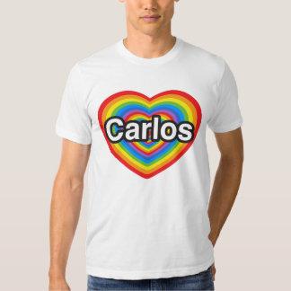 I love Carlos. I love you Carlos. Heart Tshirt