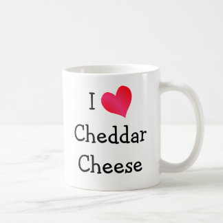 I Love Cheddar Cheese Basic White Mug