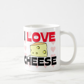 I Love Cheese Basic White Mug