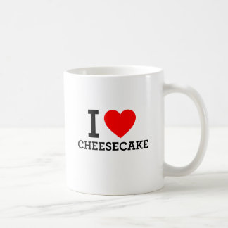 I Love Cheese Cake Basic White Mug