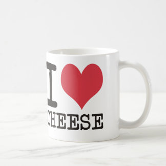 I Love Cheese - Candy - Cereal Products & Designs! Basic White Mug