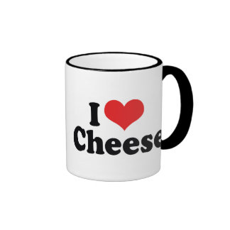 I Love Cheese Ringer Mug