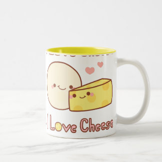 I Love Cheese Two-Tone Mug
