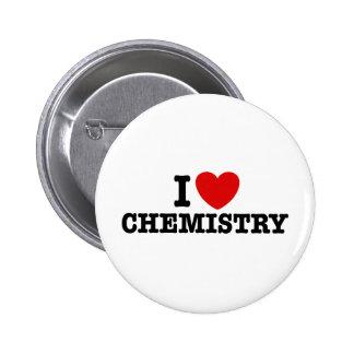 I Love Chemistry 6 Cm Round Badge
