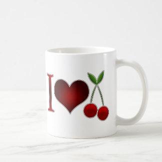 I Love Cherries Basic White Mug