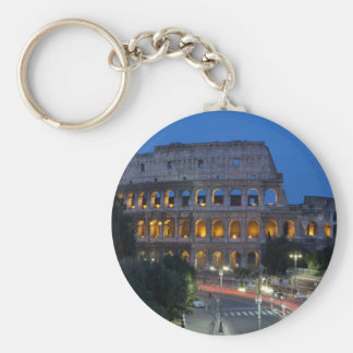 I love Colosseum by night Basic Round Button Key Ring
