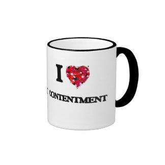 I love Contentment Ringer Mug