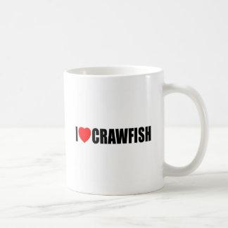 I Love Crawfish Basic White Mug