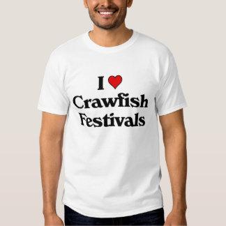I love Crawfish Festivals Shirt