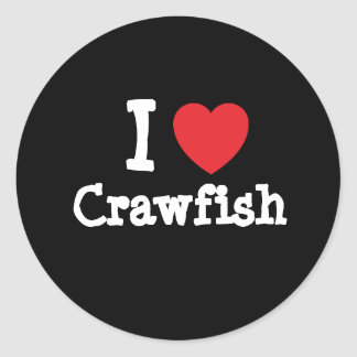 I love Crawfish heart T-Shirt Round Sticker