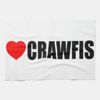 I Love Crawfish Tea Towel