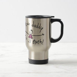 I LOVE DADDY THIS MUCH! NEW FATHERS DAY GIFT IDEA STAINLESS STEEL TRAVEL MUG