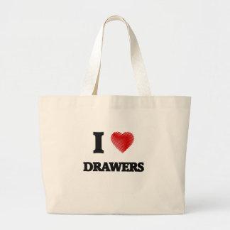 I love Drawers Jumbo Tote Bag