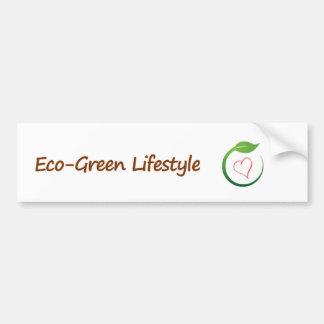 I Love Eco-Green Bumper Stickers